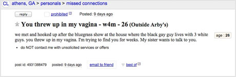 Ever hook up with someone on craigslist