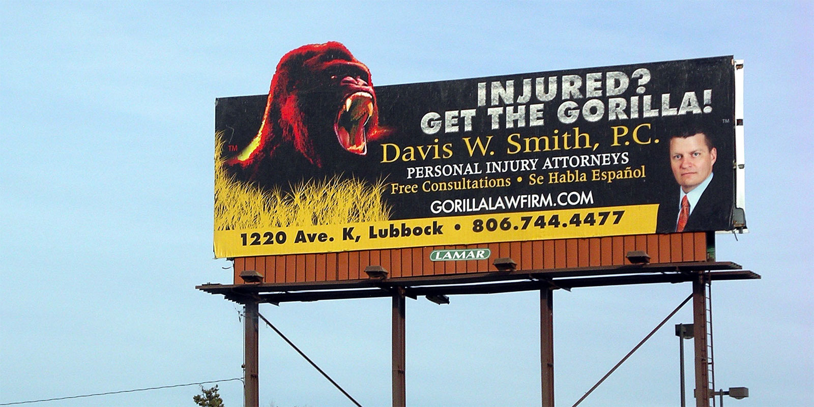 Image result for worst lawyer accident legal billboard advertising""