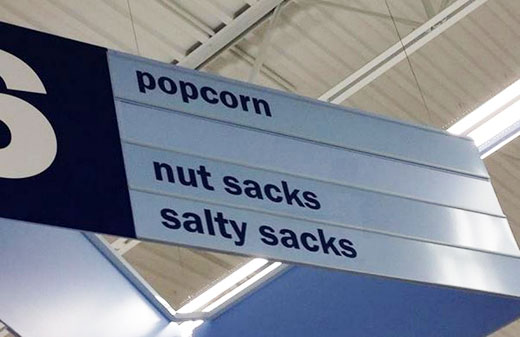 11 Unintentionally Comical Grocery Store Aisle Signs