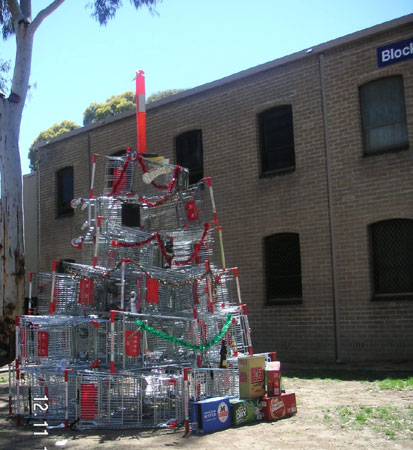 i mean if you dont pile up a bunch of shopping carts to create an improved christmas tree theyre just going to get filled up with aluminum cans or - 12 Ghetto Days Of Christmas